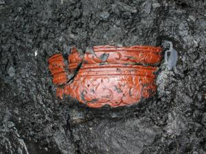 中居遺跡出土 木胎漆器